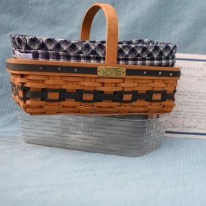 Longaberger JW Miniature Gathering Basket SIGNED!